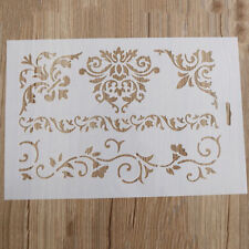 Plastic Layering Stencils Template DIY Painting Scrapbooking Tool Flower Supply
