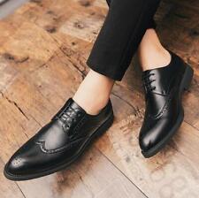 Fashion Men's Shoes Lace Up Oxfords Loafers Brogue Tassel Carving Dress Shoes Sz