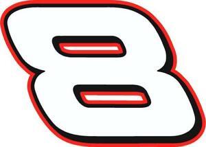 NEW FOR 2019 - #8 Dale Earnhardt Jr racing sticker decal SM thru XL - var colors