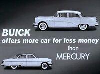 1954 Buick Versus Mercury Dealer Promo Comparison Film CD MP4 Format
