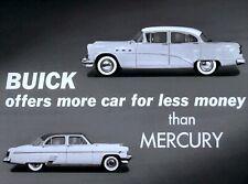 1954 Buick Versus Mercury Comparison Film CD MP4 Format