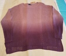 American Eagle Mixed Stitch Ombre Cable Knit Sweater Womens Size S Purple