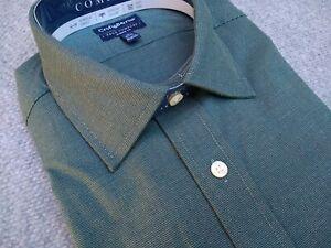NWT, Mens Croft & Barrow True Comfort Classic Fit Stretch Collar Easy Care Shirt