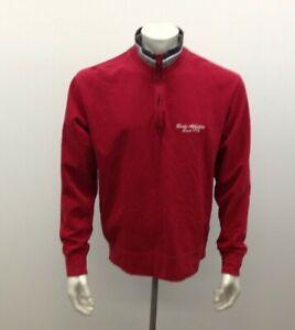 Roots Athletics 1973  Red With Gray- White-Blue Trim 1/4 Zip Cotton Sweatshirt