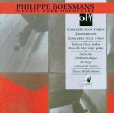 Boesmans / Pieta / M - Violin & Piano Concertos [New CD]