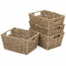 Best Choice Products Set of 4 Sea Grass Storage Deck Patio Baskets