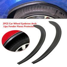 2x Car Wheel Eyebrow Arch Trim Lips Fender Flares Protector Carbon Fiber Rubber
