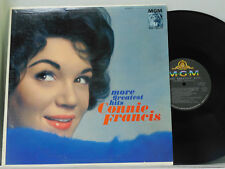 Connie Francis LP More Greatest Hits   MGM VG++ pop