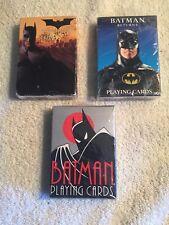 Batman 3 sets of Playing Cards- Animated Series, Batman Returns, Batman Begins