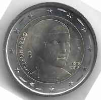 2 Euros Italia 2019 @ 1ª @ Leonardo da Vinci @ Emisión nº 25 @