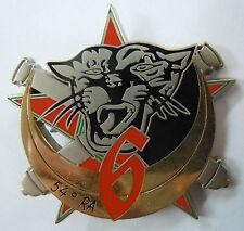 Insigne numéroté 6° BATTERIE 54° RA REGIMENT ARTILLERIE HYERES Original