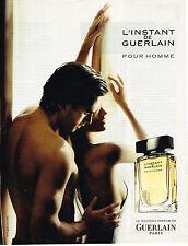 PUBLICITE ADVERTISING 015  2004  GUERLAIN  pour homme parfum  L'INTINCT 2