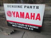 YAMAHA Genuine Parts Embossed Metal Sign Vintage Cool look motorcycle dealer Qua