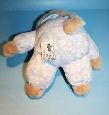 "Russ DOG 9"" Tan Plush  Stuffed Puppy Cloth Flowers Body I Love You Bow 1512 Toy"