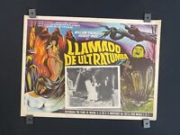 """1965 -WILLIAM SYLVESTER- Devils Of Darkness-HORROR- Mexican Lobby Card- 16""""x12"""""""