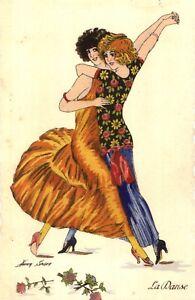 GAY LESBIAN Dancers Print Women Picture Tango Art