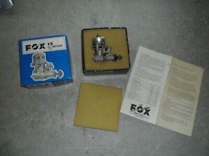 Vintage FOX 15 CL Motor 11500 RC Airplane Gas Engine W/ Original Box