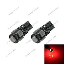 2X Red 5 SDM 5050 LED T10 W5W Side Light Car Bulb Lamp Canbus Error Free 20064