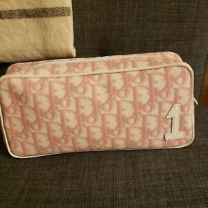Christian Dior Tres Dior Trotter Pouch Pink Logo Makeup Bag New