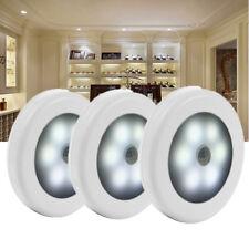 3x 6 LED LED Nachtlicht mit Bewegungsmelder Sensor Wand Leuchte Lampe Batterie