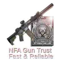 NFA Gun Trust - 41F Compliant - Same Day Delivery - PRICE DROP - 50 State Legal