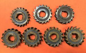 "7 x 3"" Diameter - 3/8-1 - New - Milling Cutters (Slotting) HSS 1"" Bore"