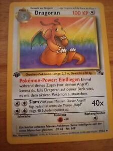 Pokemon Tcg Fossil 1. Edition Dragoran