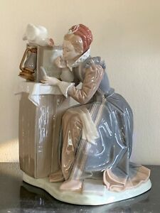 Lladro # 1407 Rural Actress 1982 Norman Rockwell Series Porcelain Figurine