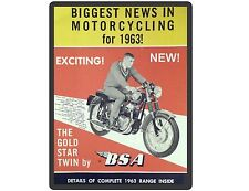 1963 BSA  Motor Cycle Gold Star Twin   Refrigerator / Tool  Magnet