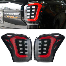 Fit Subaru Forester SJ XT LED Sequential Tail Lights Rear USDM Red Tube 14-18