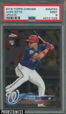2018 Topps Chrome Update #HMT55 Juan Soto Nationals RC Rookie PSA 9 MINT