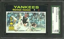 1971 TOPPS #5 THURMAN MUNSON SGC 86 NM+ 7.5 YANKEES CAPTAIN POP 8 BASEBALL