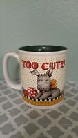MARY ENGELBREIT Scottie Dog COFFEE MUG TEA CUP Green