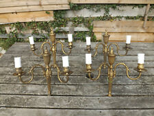 More details for 4no vintage french gilt bronze double sconce wall lights