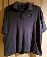 NASA Embroidered Logo Gray Polo Shirt Mens Size XL