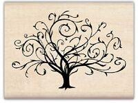 FLOURISHED FALL TREE  Rubber Stamp 97163 Inkadinkado Brand NEW! bare