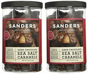2 Pack Sanders Dark Chocolate Sea Salt Caramels - 36 Oz (2.25 Ib)