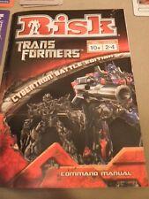 Transformers Risk Board game.  2007. Complete