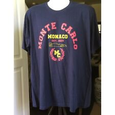 BC collection Monte Carlo Formula 1 racing T-shirt Blue XL