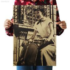 2D78 Hot Audrey Hepburn Vintage Kraft Paper Poster Bar Art Movie Actress Star