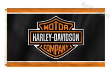 Harley Davidson Flag Banner 3x5Ft Motorbike Cycle Flag Fat Road Racing