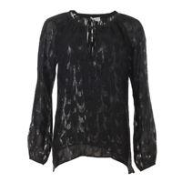 DEA KUDIBAL Blouse Black Tonal Print Sheer RRP £189 BG