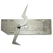 V-WAC GAGE Single Weld Gauge of Welding Inspection Gauge Inch Stainless Steel