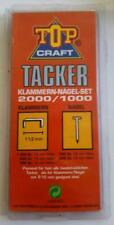 Top Craft - Tacker - Klammern-Nägelset - 2000 / 1000 - 5 Packungen