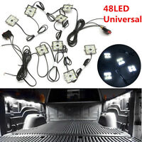 8Pcs  White 48 LED 5630 SMD Truck Bed Light Kit For Chevy Dodge GMC Pickup Truck