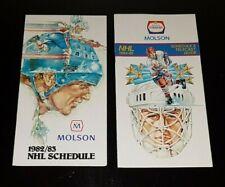 1982-83 + 1984-85 NHL Hockey Schedules Gretzky Oilers Vaive Leafs Bouschman Jets