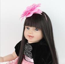 "22"" Reborn Baby Handmade Dolls Girl Long Hair Realistic Newborn Toy Xmas Gift"