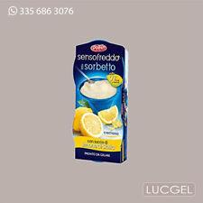 12 Pz Sorbetto Limone Sicilia Senso Freddo DOLFIN 12x100 ml Succo di Frutta