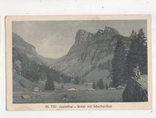 Justisthal Sichel Mit Scheibenfluh Switzerland Vintage Postcard 352b