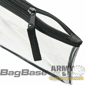 Bagbase Clear Grab Pouch Womens Make Up Bag See Through Cosmetic Case Clear